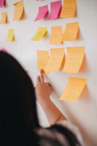 Workshop: eine Wand mit Post-It-Zetteln